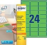 Best Sites laser vert - Avery 480 Etiquettes Autocollantes Amovibles (24 par Feuille) Review