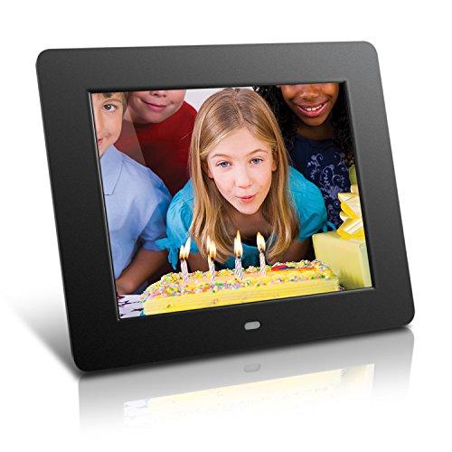Aluratek ADMPF108F 8-inch Hi-Res Digital Photo Frame With 4GB Built in Memory (Black)