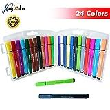 magicdo® 24 Spalten waschbar Art Marker, dreieckiges Design Watercolor Marker Pen, Safe Textmarker...