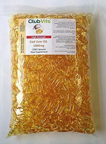 Club Vits - 1000 gelules d' huile de foie de morue - capsules de 1000mg