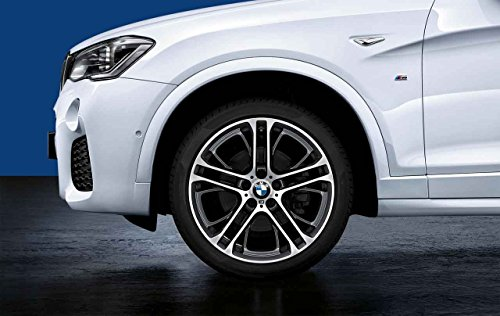 BMW 4x Genuine Double Spoke 310 M 21″ Alloy Wheel + Tyre Set X5 E70 36112230158