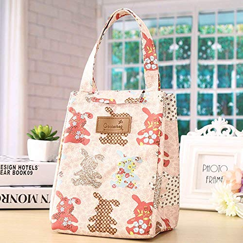 HouseHold Culture Thermal Portable Insulated Cooler Oxford Cloth Multicolour Lunch Bag
