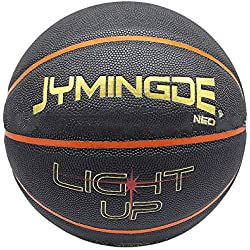 Cypressen Basketball réfléchissant Brillant holographique Light Up Camera Flash Glow Basketballs Cadeaux Jouets - Illuminator Glow in The Dark Basketball