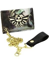 Portefeuille - 'Legend of Zelda' - Badge Logo métal et Chaînette - vert