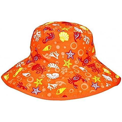 Baby Banz Reversible Sonnenhut - Orange Sea Creatures - One Size (Reversible Sonnenhut)