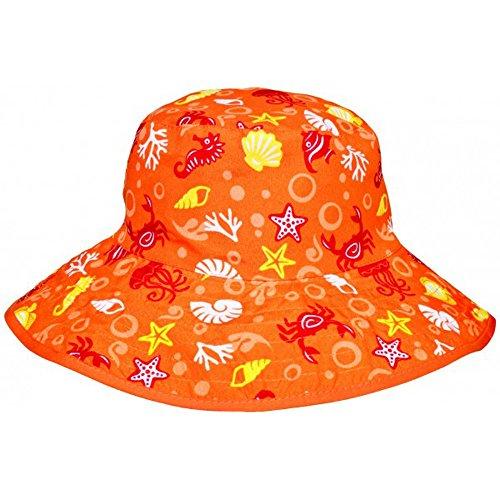Bambino Banz reversibile Cappello per il sole - Creature Arancione Ma - One Size