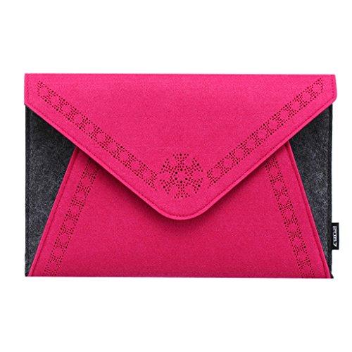 2087 Damen Envelope Clutch Bag Magnetverschluss Handtasche für Party und Hochzeit Rose 04-Rose