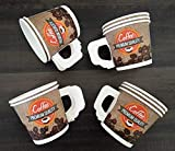 Best Disposable Cups - Paricott 150ml Handle Cup Coffee Printed with Disposable Review