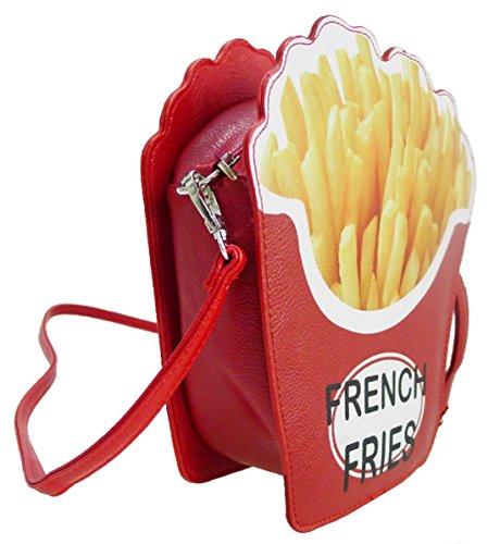 Kukubird Grace Pommes-frites-Neuheit Crossbody-Bag Mit Kukubird Staubbeutel Red