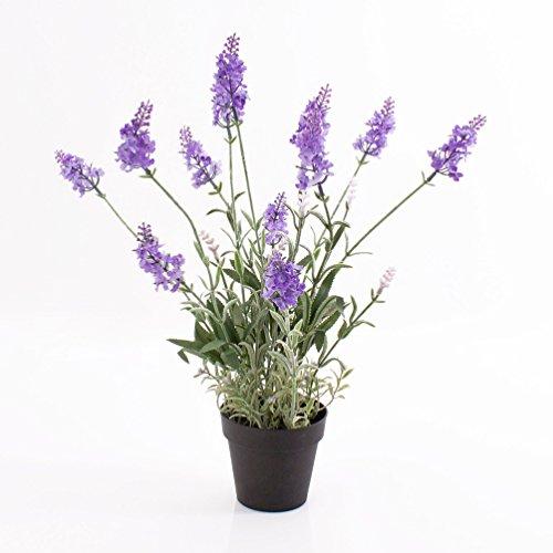 Künstlicher Lavendel im Topf, hellviolett, 42 cm - Kunstblume / Deko Blume - artplants