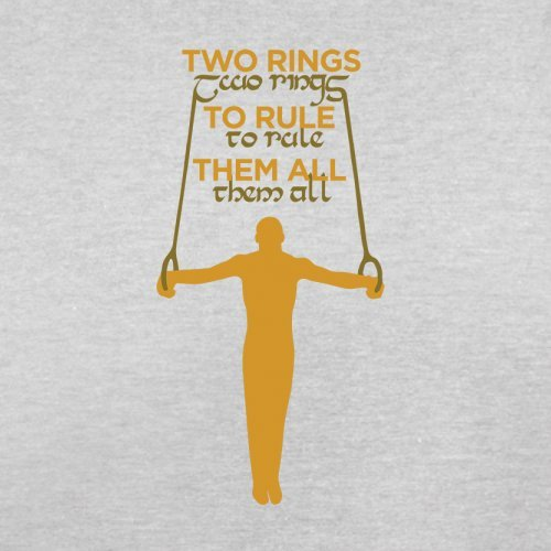 Two Rings To Rule Them - Herren T-Shirt - 13 Farben Hellgrau