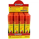 B-Camping carga Gas para Mecheros prima calidad de 300 ml