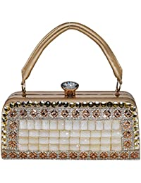 Bagaholics Big Box Beads & Stone With Diamond Studded Clutches Handbags Cocktail Evening Party Clutch Wedding...