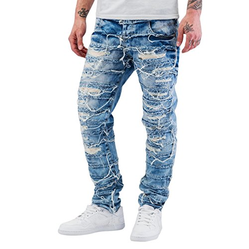 Cipo & Baxx Homme Jeans / Jeans Straight Fit Fray Bleu