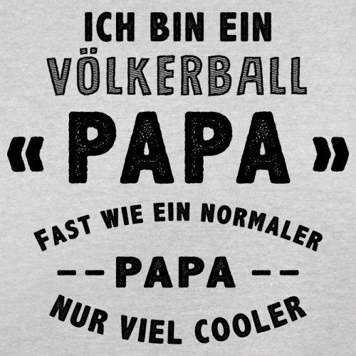 Ich bin ein Völkerball Papa - Herren T-Shirt - 13 Farben Hellgrau