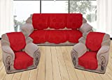 Yellow Weavestm 6 Piece Red Sofa & Chair Cover Set