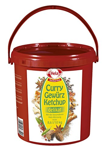 Hela - Curry Gewürz Ketchup delikat Eimer Curryketchuo Tomatenketchup Sauce Dip - 8,6l/10kg