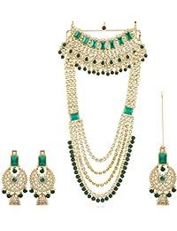 Karatcart 22K GoldPlated Kundan Rani Haar Necklace for Women