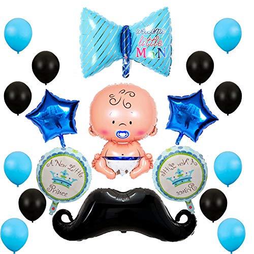 Oumezon Babyparty Deko Jungen Baby Shower Party Deko Heliumballon Baby Folienballon Baby Dusche Dekoration,Babyshower It's a Boy Babyparty Party und Dekoration