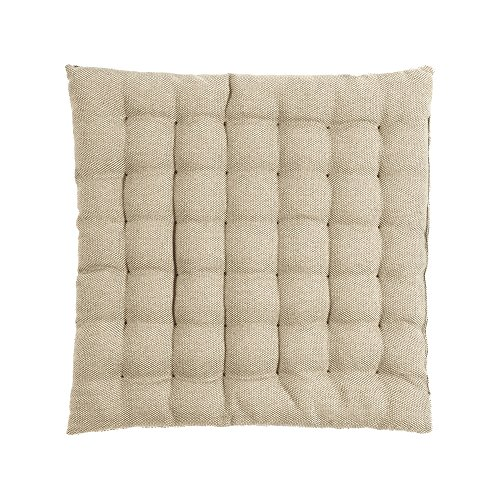 LINUM Sitzkissen PEPPER G06 beige 40cm x 40cm x 4cm, Dekokissen, Kissen, Wohntextilien