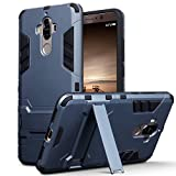 Terrapin, Kompatibel mit Huawei Mate 9 Hülle, Silikon + Polycarbonat Tasche mit Standfunktion - Dunkelblau