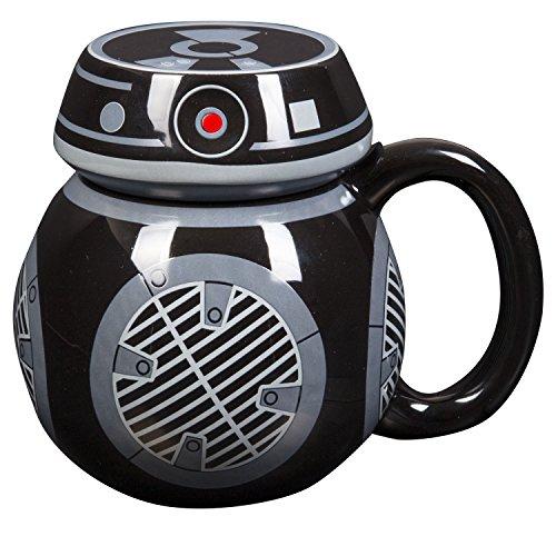 Star Wars Der Letzte Jedi BB9E Tasse Kaffee Figural Keramiktasse mit Deckel 16 Glas Infusion Gläser