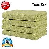 New 100% ägyptische Baumwolle Premium Weiche Qualität Badelaken Handtuch 550gsm Pack von zwei Badelaken Handtuch (Kostenlose Lieferung) olivgrün