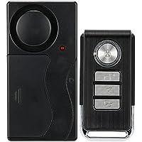 KKmoon Control Remoto Inalámbrico de vibración Alarma Hogar Casa para puerta de seguridad detector de sensor de ventana de coche Puerta Chimes campanas
