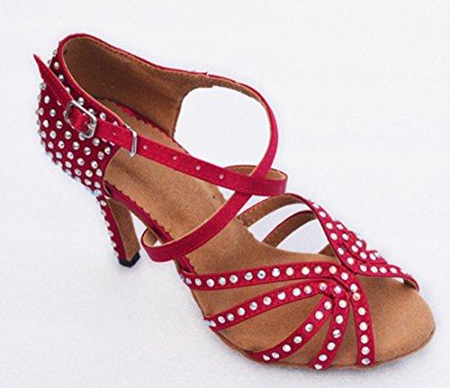 TDA , Peep-Toe femme 8.5cm Red