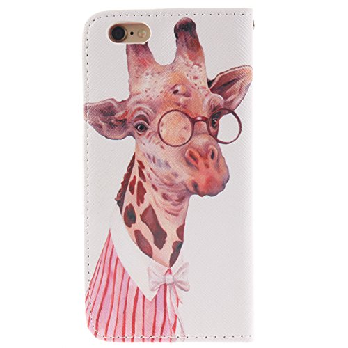 MOONCASE iPhone 6/6S Coque, Printing Series Case Étui en Cuir Portefeuille Housse de Protection Etui à rabat Cover pour Apple iPhone 6 / 6S (4.7 inch) TX15 TX07 #0401
