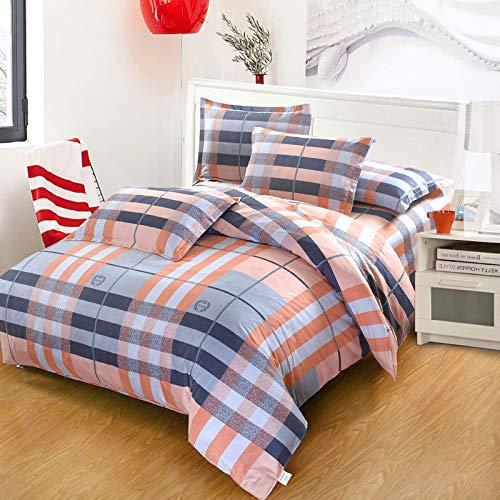 CZDXMVier Jahreszeiten Baumwolle Vierteilige Baumwolle Gebürstet Cartoon Bettbezug Bettwäsche Kissenbezüge Erhöhen Bettwäsche Kit 2M Bett -