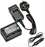 DSTE VW-VBK180 Rechargeable Li-ion Battery + Charger DC106U for Panasonic HC-V10, HC-V100, HC-V100M, HC-V500, HC-V500M, HC-V700, HC-V700M, HDC-HS60, HDC-HS80, HDC-SD40, HDC-SD60, HDC-SD80, HDC-SD90 Digital Cameras