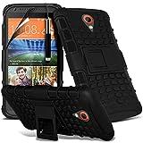Black - HTC Desire 620 Zweischichtige starke, stoßfeste