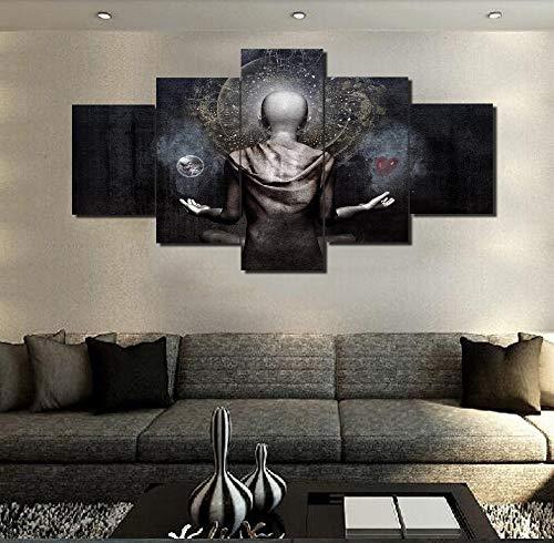 Leinwandbild Buddha With