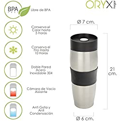 Oryx 5075040 Vaso Termico Acero Inoxidable Antigoteo 380 ml