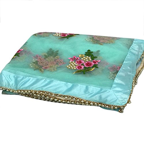 Pujia mills Latest Mono Net Designer Saree in Beautifull Sky Blue Colour