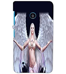 NOKIA LUMIA 530 DUAL ANGEL GIRL Back Cover by PRINTSWAG