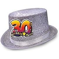 Cappello CILINDRO 30 ANNI glitter - Buon Compleanno - colori assortiti -  invio del colore casuale a91588b5f0b0