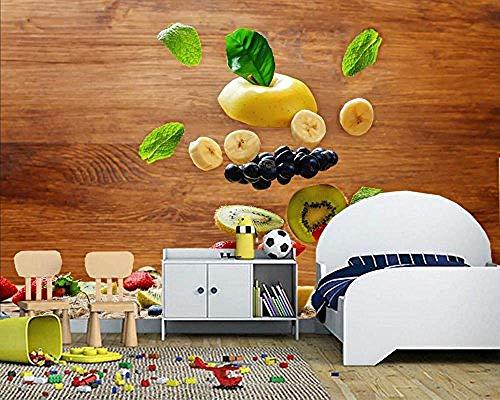 FSLUCKY 3d obst äpfel bananen erdbeere kiwi cranberries tapete wohnzimmer sofa schlafzimmer tv sofa benutzerdefinierte wandbild-D -
