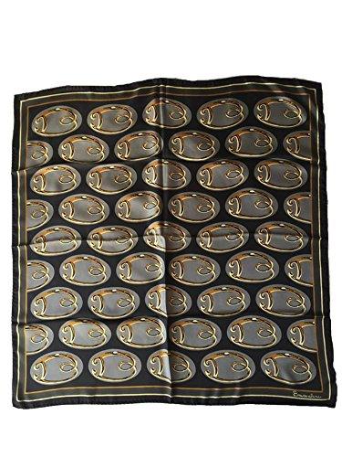 Foulard 100% seta BRACCIALINI 90x90cm Made in Itlay (nero)