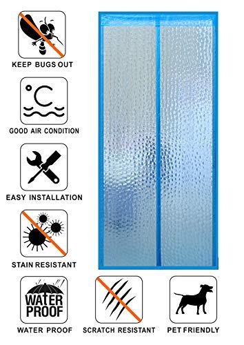 Liveinu isolamento termico tenda magnetica per porte zanzariera magnetica con thermo per camera climatizzata impermeabile rete anti zanzare 200x220cm blu