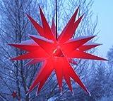 Mit LED Melchior outdoor II rot, Außenstern inkl. Außenkabel / Außensterne, Leuchtmittel StaRt-NDL-DUH-E14-C3,5W 104 SMD Dioden