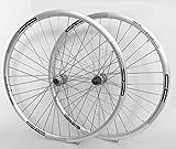 28 Zoll Fahrrad Laufradsatz 622x17 Sportrad silber - Deore 535 sb - Niro sb. 36 Loch DISC