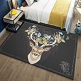 YXZN Deer Carpet Wohnzimmer Schlafzimmer Teppich Moderne Einfachheit Nachttisch Couchtisch Teppiche,Color1,80X120CM
