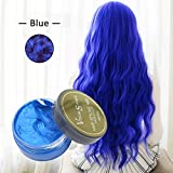 Colore capelli cera bianca, Bulary Hair styling Wax argilla da modellare Fluffy Hair styling crema colorante per capelli cera di argilla fango