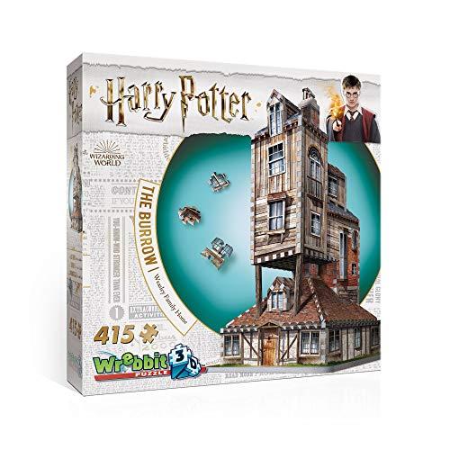 Puzle 3D Wrebbit Harry Potter La casa madriguera familia