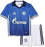 adidas Kinder Schalke 04 Mini-heimausrüstung, Jacke: Dark Blue/White Hose: White/Dark Blue, 104