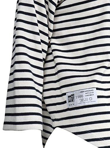 MADS NORGAARD Damen Sweatshirt Thilke Gestreift Navy-Elfenbein 546 ecru navy
