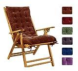 Liveinu Coussin pour Banc de Jardin Terrasse Balcon Balancelle Coussin Bain de Soleil pour Lounge Fauteuil Chaise Transat de Jardin Marron 150x48cm
