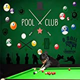 4D Tapeten Wandbilder,Kreative Cartoon Snooker Billard Groß Kunstdruck Wallpaper Poster Für Billiard Hall Bar Ktv Wand In Der Tapete Wandbilder Home Wand Spezialisiert, 120 X 200, 300 Cm (H) X 500